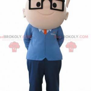 Boy mascot with glasses. Engineer mascot - Redbrokoly.com