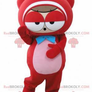 Veldig morsom rød bamsmaskot - Redbrokoly.com