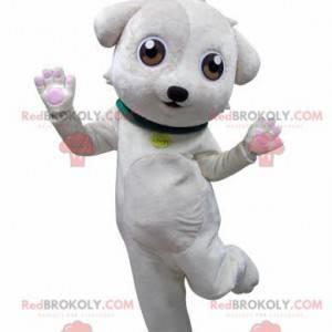 Süßes und süßes weißes Hundemaskottchen - Redbrokoly.com