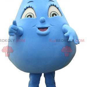 Obří modrá kapka vody maskot - Redbrokoly.com