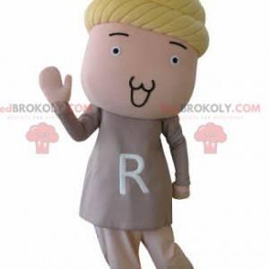 Maskot panenky s blond vlasy - Redbrokoly.com