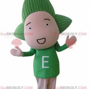 Dětská panenka maskot se zelenými vlasy - Redbrokoly.com