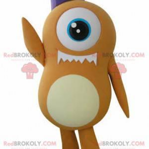 Orange Cyclops alien mascot - Redbrokoly.com