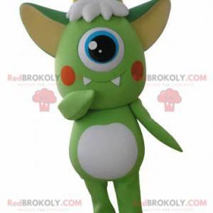 Außerirdisches Maskottchen der grünen und weißen Zyklopen -
