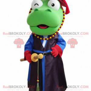 Zielony smok maskotka samuraj strój - Redbrokoly.com