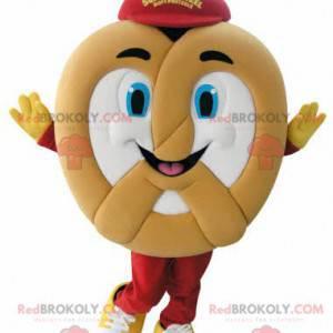 Velmi usměvavý obří preclík maskot - Redbrokoly.com