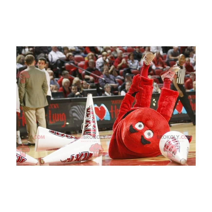 Maskot velký muž celý červený - Redbrokoly.com