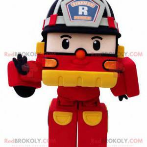 Transformers Feuerwehrauto Maskottchen - Redbrokoly.com