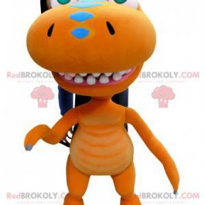 Giant orange dinosaur drage maskot - Redbrokoly.com