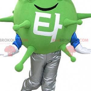 Green virus microbe mascot. Alien mascot - Redbrokoly.com