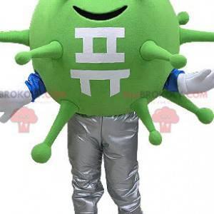 Zelený virus bakterie maskot. Mimozemský maskot - Redbrokoly.com