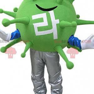 Green virus monster mascot. Alien mascot - Redbrokoly.com