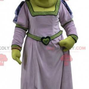 Mascote Fiona famosa mulher de Shrek, o ogro verde -