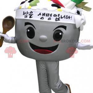 Mísa maskot plněné zeleninou. Maskot polévka - Redbrokoly.com