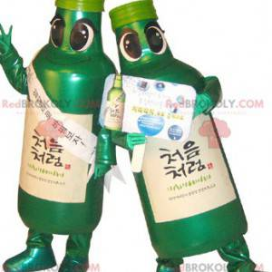 2 maskoti zelených lahví. 2 maskoti na láhve - Redbrokoly.com