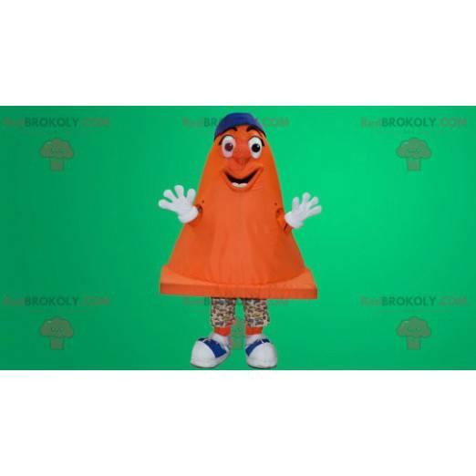Orange signaling stud mascot - Redbrokoly.com