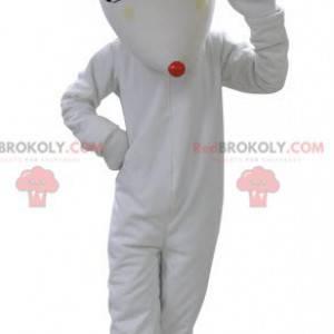 White cat mascot. White wolf mascot - Redbrokoly.com