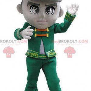 Maskot muž oblečený v ročníku zelený kostým - Redbrokoly.com