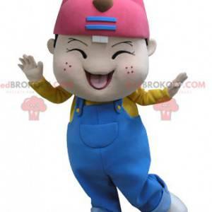 Malý chlapec maskot s bobří hlavou - Redbrokoly.com