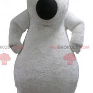 Maskotka miękki i włochaty niedźwiedź polarny. Maskotka