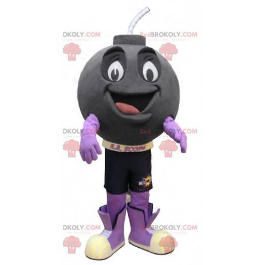 Usmívající se dělová koule maskot - Redbrokoly.com