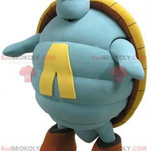 Riesiges Maskottchen der blauen und gelben Schildkröte -