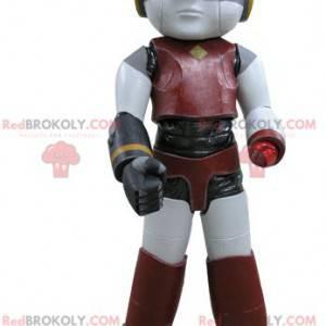 Robot maskot červená žlutá a černá - Redbrokoly.com