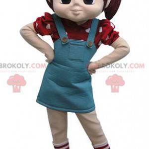 Jentemaskott med to dyner og en kjole - Redbrokoly.com