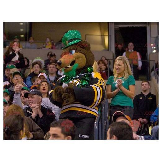 Medvěd hnědý maskot v sportovní oblečení - Redbrokoly.com