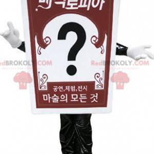 Maskot obří karty. Reklamní maskot - Redbrokoly.com