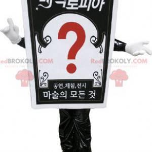 Giant sign mascot. Advertising mascot - Redbrokoly.com