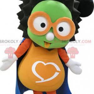 Maskotka bałwana w bardzo kolorowych okularach - Redbrokoly.com