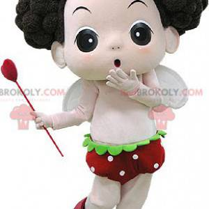 Hnědá dívka maskot s křídly a hůlkou - Redbrokoly.com