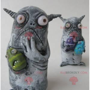 2 mascots of little gray monsters - Redbrokoly.com