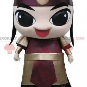 Samurajský maskot oblečený v obleku válečníka - Redbrokoly.com
