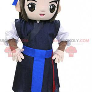 Krieger Samurai Maskottchen. Asiatisches Maskottchen -