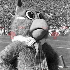 Chlupatý sova maskot - Redbrokoly.com