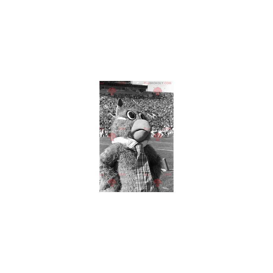 Haariges Eulenmaskottchen - Redbrokoly.com