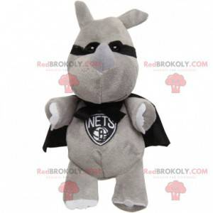 Masked rabbit mascot with a cape - Redbrokoly.com