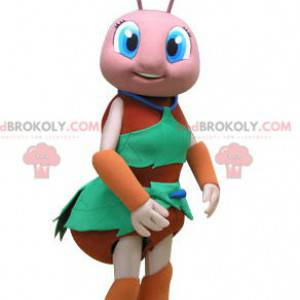 Oransje og rosa mauremaskot. Insekt maskot - Redbrokoly.com