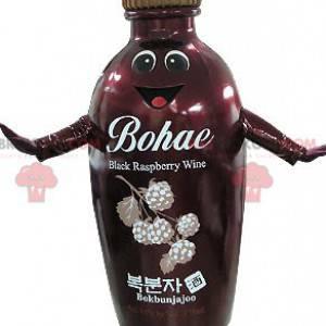 Usmívající se maskot červené a hnědé láhve - Redbrokoly.com