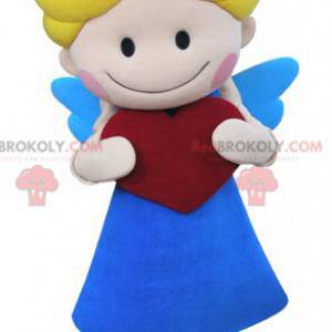 Cupid angel mascot with wings and a heart - Redbrokoly.com