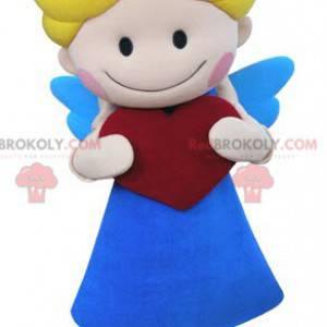 Cupid angel maskot s křídly a srdcem - Redbrokoly.com