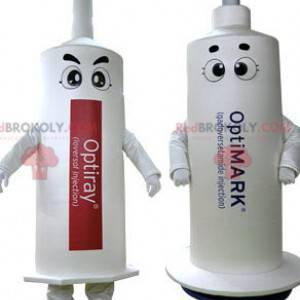 2 maskoti bílých stříkaček. 2 stříkačky - Redbrokoly.com