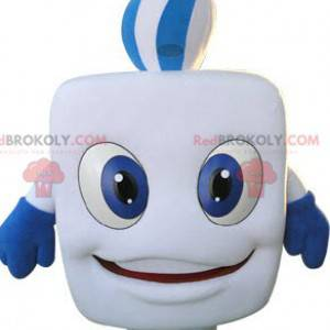 Chewing gum white tooth mascot - Redbrokoly.com