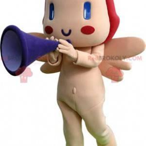 Cupid angel mascot with wings - Redbrokoly.com