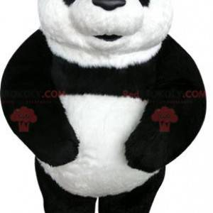 Veldig vakker og realistisk svart og hvit panda maskot -