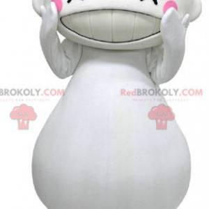Maskott stor hvit mann ser latter - Redbrokoly.com