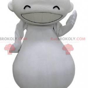 Maskot velký bílý muž hledá smích - Redbrokoly.com