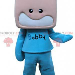 Child mascot boy dressed in blue - Redbrokoly.com